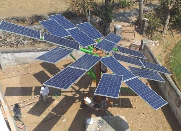 Solar tree installation done for bharti infratel in Udaipur Rajasthan